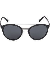 giorgio armani women's 54mm round sunglasses - black