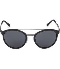 giorgio armani women's 54mm round sunglasses - black