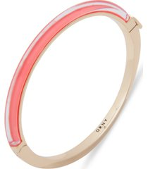 dkny gold-tone & colored inlay bangle bracelet