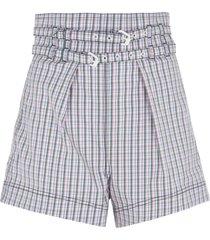 philosophy di lorenzo serafini two-belt detail shorts