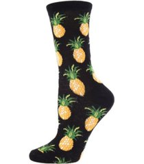 memoi pineapples women's novelty socks