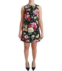 bloemen brocade mini shift jurk