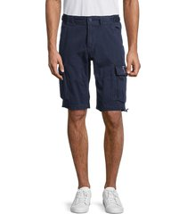 jetlag men's toggle-hem cargo shorts - black - size xxl
