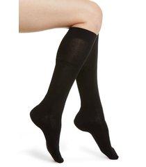 women's falke family knee high socks, size 35/38 - black