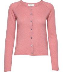 cardigan ls stickad tröja cardigan rosa rosemunde