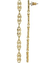 2028 women's 14k gold dipped linear chain earring
