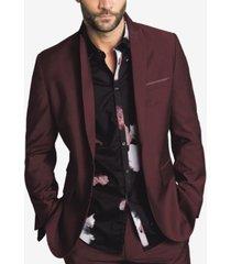 i.n.c. men's slim-fit burgundy blazer, created for macy's