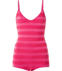 andrea bogosian pencil knit bodysuit - pink