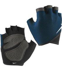 guantes para pesas essential fitness para mujer - azul oscuro