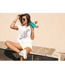 koszulka biała damska organiczna gardzę