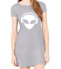 vestido criativa urbana estampado alien dj