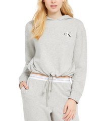 calvin klein ck one cropped french terry lounge hoodie