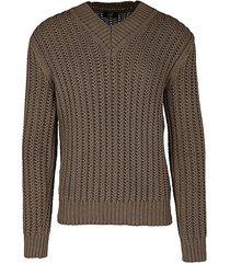 knit v-neck silk sweater