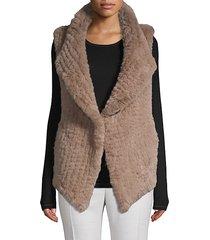 open-front faux fur vest