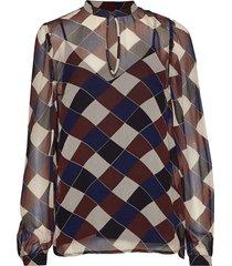 mertrice blouse lange mouwen bruin baum und pferdgarten