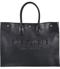 rive gauche embossed tote