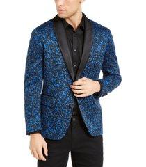 inc men's big & tall paint splatter knit blazer, created for macy's