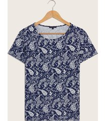 camiseta con recogido azul 14