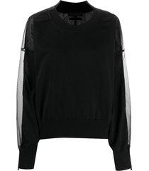 diesel black gold sheer layer sweatshirt