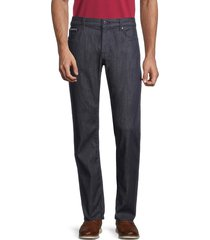 boss hugo boss men's classic-fit five-pocket pants - navy - size 32 32