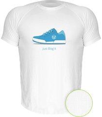 camiseta manga curta nerderia just blog it branco - branco - masculino - dafiti