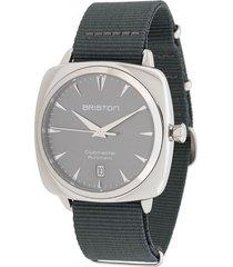 briston watches clubmaster iconic steel watch - grey