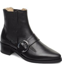 elite buckle chelsea shoes boots ankle boots ankle boot - heel svart royal republiq