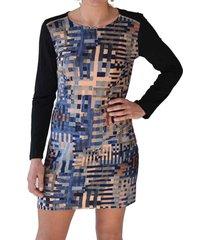 vestido estampado rayas azul alexandra cid