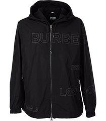 burberry stretton - horseferry print shape-memory taffeta hooded jacket