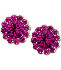 zenzii gold-tone crystal stud earrings
