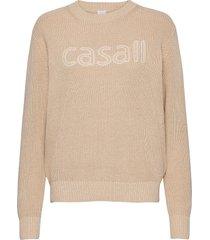 knitted logo sweater gebreide trui crème casall