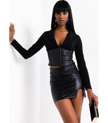 akira boss is here corsetted blouse