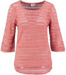 object roze trui katoen 3/4 mouw