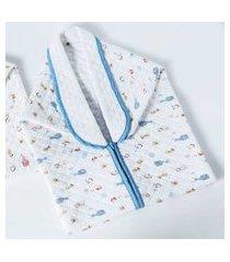 cobertor menino baby sac jolitex com detalhes em azul