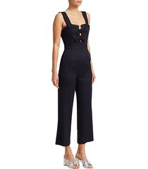 rosalind sleeveless bow-front crop jumpsuit