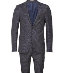 bs dallas, suit set kostym blå bruun & stengade