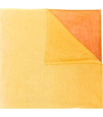 missoni colour block scarf - yellow