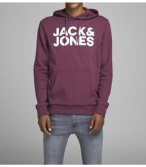 jack & jones men's logo long sleeve pullover hoodie