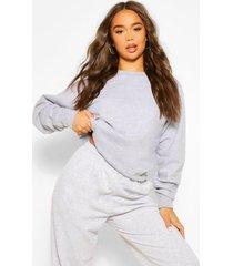 90's girl sweater met rugopdruk, grijs gemêleerd