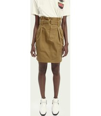 scotch & soda praktische rok met hoge taille van katoen en linnen