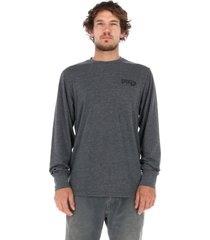 polera epico long t-shirt gris stoked