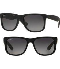 women's ray-ban 54mm sunglasses - dark grey/ black
