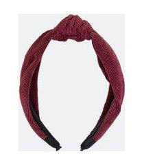 tiara larga com nó em veludo | accessories | vermelho | u
