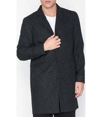 topman grey textured overcoat with wool jackor grey