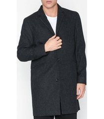 topman grey textured overcoat with wool jackor grey