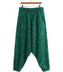 hombres estilo étnico impreso gráfico cintura media casual pierna ancha harem pantalones