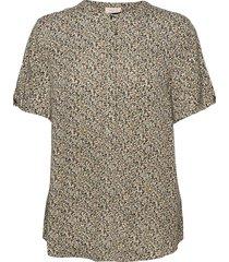 fqadney-ss-bl-lumi blouses short-sleeved blå free/quent