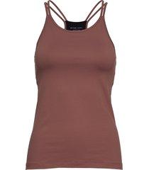strap yoga tank t-shirts & tops sleeveless rood filippa k soft sport