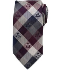 star wars darth vader modern plaid men's tie