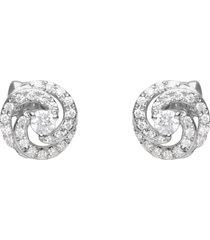 orecchini a lobo in oro bianco e diamanti 0,27 ct per donna